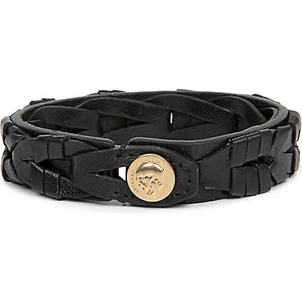 ALEXANDER MCQUEEN Braided leather bracelet (Black