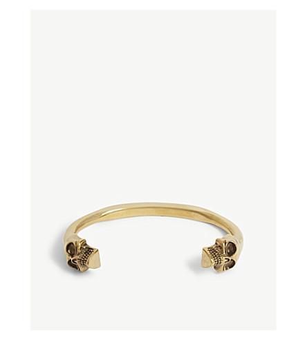 ALEXANDER MCQUEEN Twin skull cuff (Gold