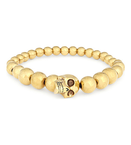 ALEXANDER MCQUEEN Skull bead bracelet (Gold