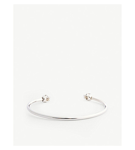 ALEXANDER MCQUEEN Small twin skull bangle (Silver