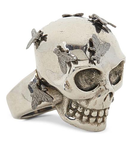 ALEXANDER MCQUEEN Skull and fly ring (Silver