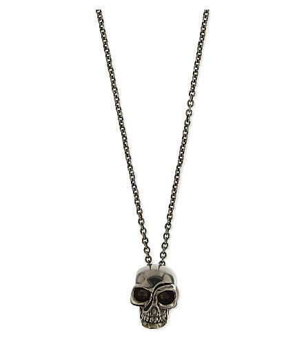 ALEXANDER MCQUEEN 分割头骨项链 (银色
