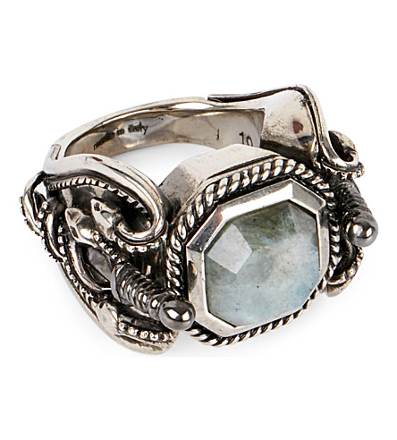 ALEXANDER MCQUEEN Snake and Dagger ring (Black/silver