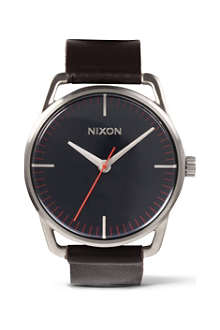 NIXON Mellor navy brown watch