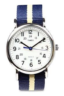 TIMEX Weekender fabric strap watch
