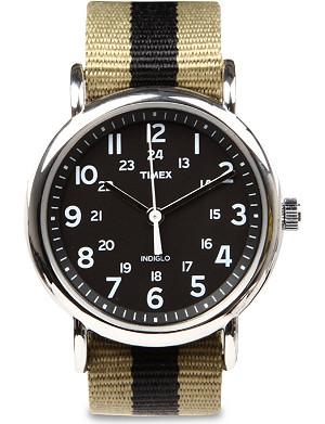 TIMEX Weekender fabric-strap watch