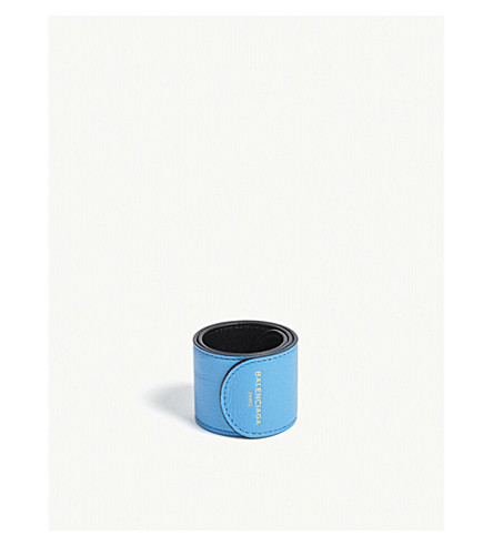 BALENCIAGA Leather snap bracelet (Blue