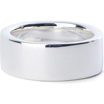 SEVEN LONDON Classic polished band ring (Silver