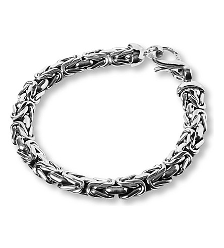 SEVEN JEWELLERY Byzantine link bracelet (Sterling+silver