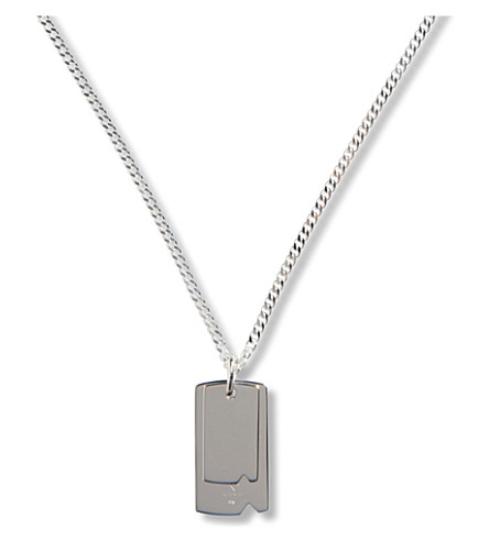 SEVEN JEWELLERY Sterling silver dog tag necklace (Silver
