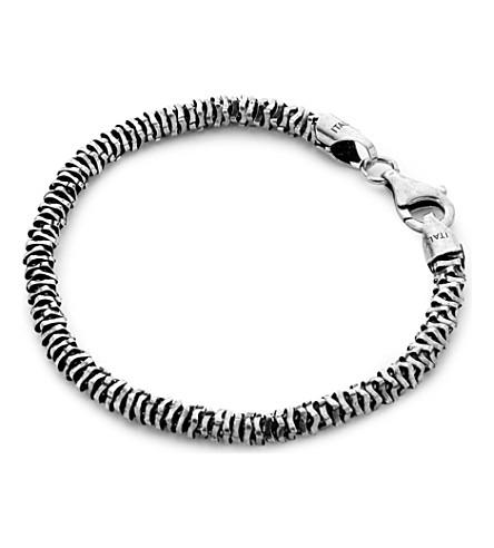 SEVEN JEWELLERY Silver disc bracelet (Sterling+silver
