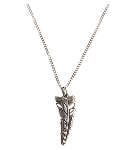 SEVEN JEWELLERY Life feather pendant (Silver