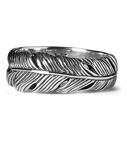 SEVEN JEWELLERY Life feather ring (Silver