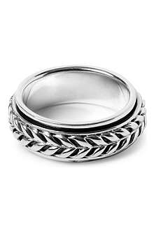 SEVEN LONDON Flowing weave rotating ring