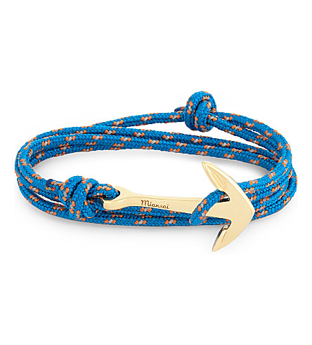 MIANSAI Gold-plated anchor rope necklace (Caribbean