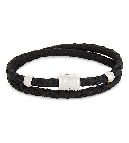 MIANSAI Double-wrap leather bracelet (Black
