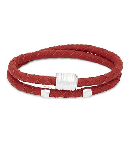MIANSAI Casing double-wrap leather bracelet (Red
