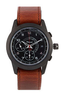 MIANSAI M2 Noir leather watch