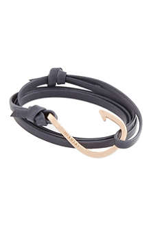 MIANSAI Rose gold leather hook bracelet