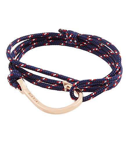 MIANSAI Rose gold rope hook bracelet (Navy