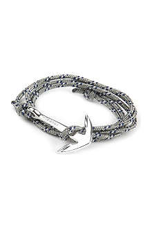 MIANSAI Silver rope and anchor bracelet