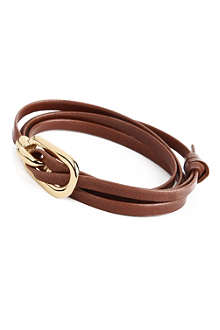 MIANSAI Gamle gold leather bracelet