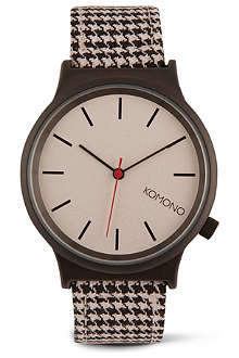 KOMONO Pied de Poule printed watch