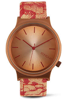 KOMONO Hawaiian Sunset printed watch