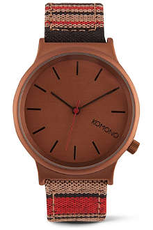KOMONO Dock Stripe printed watch