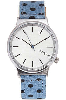 KOMONO Denim Polkadot watch