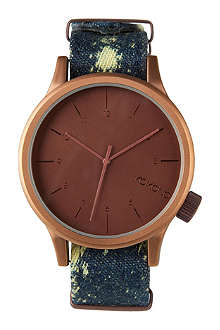 KOMONO Acid Denim large printed watch