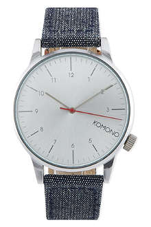 KOMONO Winston Chambray denim watch