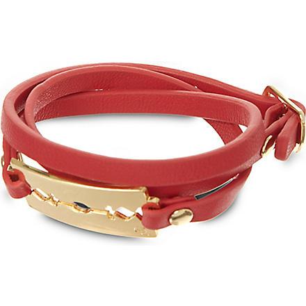 MCQ ALEXANDER MCQUEEN Triple-wrap razor bracelet (Watermelon