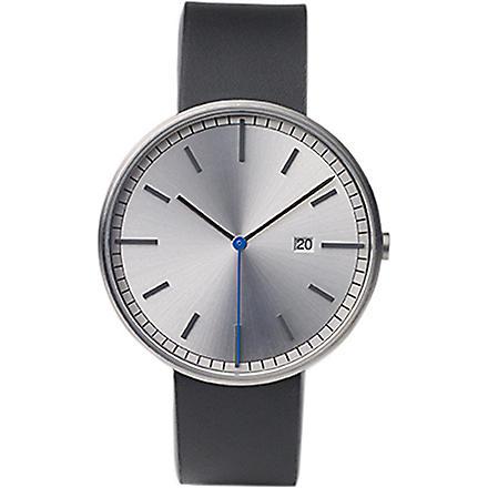 UNIFORM WARES 200 series stainless steel watch (Black/black