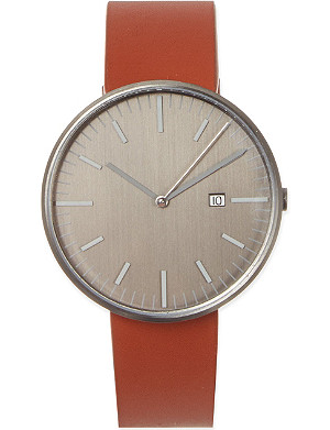 UNIFORM WARES 203 series tan leather watch