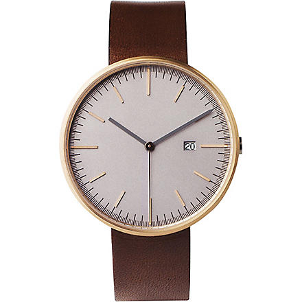UNIFORM WARES 203/RG02 series wristwatch (Rose gold / walnut