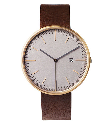 UNIFORM WARES 203/RG02 series wristwatch (Rose+gold+/+walnut