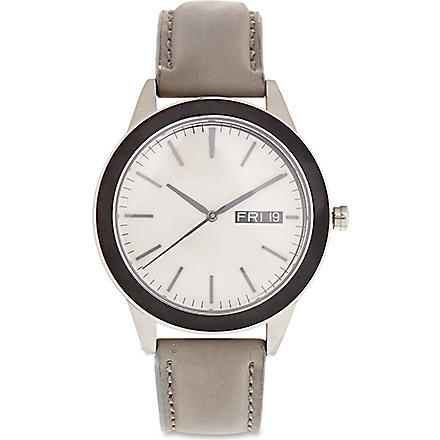 UNIFORM WARES Grey strap 351 series watch (Satin / grey