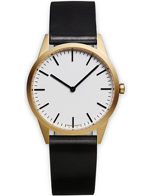 UNIFORM WARES C35 Nappa leather SGO-01 watch
