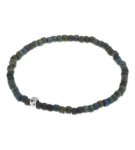 LUIS MORAIS Side skull beads (Gunmetal