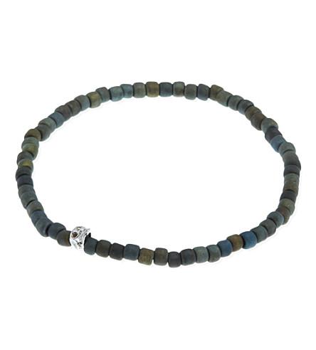LUIS MORAIS Side skull beads (Gunmetal
