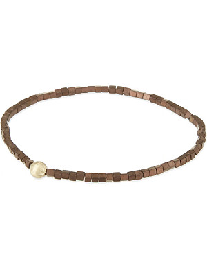 LUIS MORAIS Snake ball square bracelet