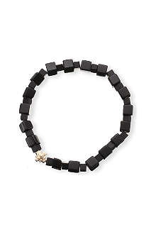 LUIS MORAIS Onyx and yellow-gold beaded bracelet