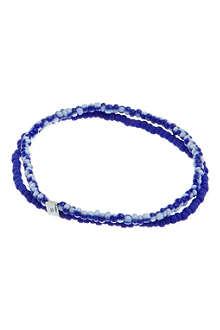 LUIS MORAIS Tile beads double bracelet