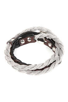 MARC BERNSTEIN NEW YORK Triple-wrap braided bracelet