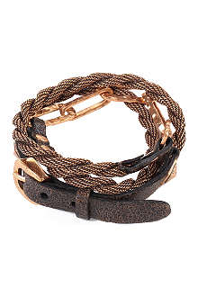 MARC BERNSTEIN NEW YORK Double-wrap buckle and chain cuff