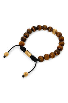 NIALAYA Gold, Tiger Eye and silver bracelet
