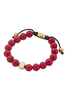 NIALAYA Red jade beaded bracelet