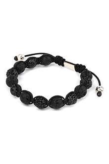 NIALAYA Lava Stone crystal bracelet