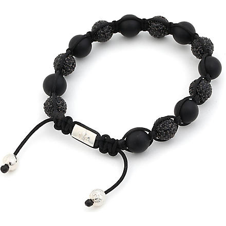 NIALAYA Solid silver and crystal bracelet (Black